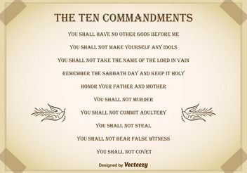 Ten Commandments Background - бесплатный vector #149665