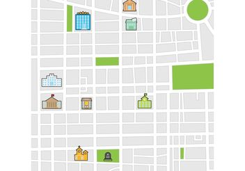 City Map Vector - vector #149775 gratis