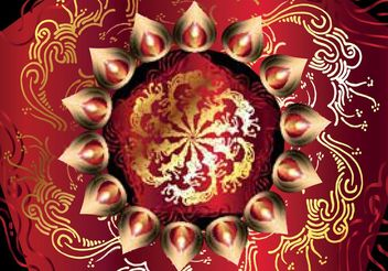 Free Happy Diwali Vector Background - vector gratuit #149815