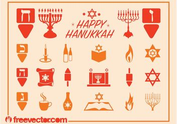 Hanukkah Graphics Set - Free vector #149835
