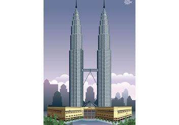 Petronas Towers - бесплатный vector #149865