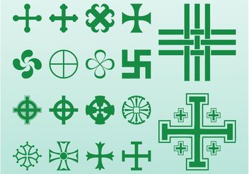 Crosses And Symbols - vector gratuit #149875