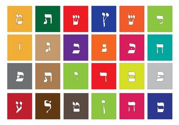 Vector Hebrew Alphabet - Free vector #149935