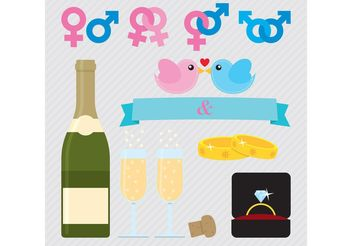 Wedding Vector Symbols - vector gratuit #149945