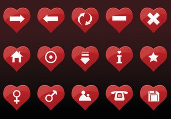Heart Icons - vector gratuit #149995
