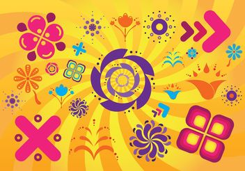 Summer Design Elements - Free vector #150005