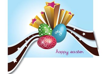 Easter Eggs - Free vector #150015