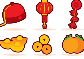 Chinese New Year Icons Vector - Kostenloses vector #150185