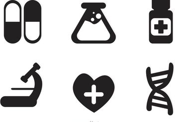 Medical Black Icons Vector - бесплатный vector #150215