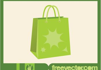 Green Shopping Bag Vector - Free vector #150265
