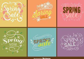 Spring Sale Sign Vectors - Free vector #150315