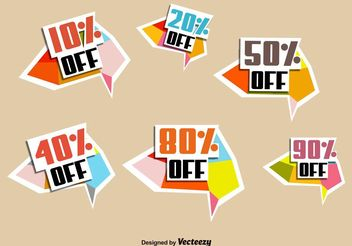 Discount Sale Badges - Kostenloses vector #150325