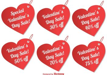 Valentine's Day Sale Tags - vector gratuit #150455