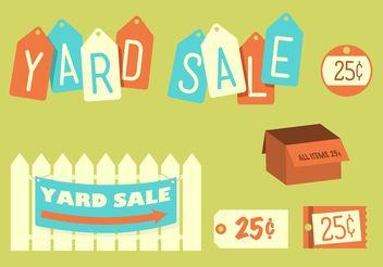 Retro Yard Sale - Free vector #150465