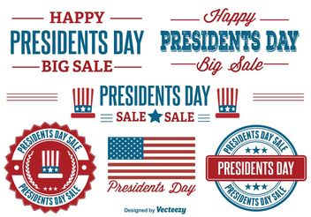Presidents Day Sale Labels - бесплатный vector #150485
