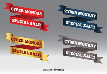 Cyber Monday Sale Banner Set - Free vector #150505
