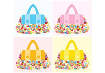 Fashion Accessories Flower Bags - vector gratuit #150535