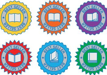 Best Seller Book Vector Badges - бесплатный vector #150555
