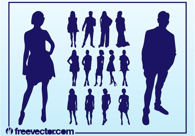 Vector Fashion Models - Free vector #150585