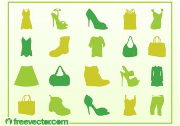 Vector Fashion Silhouettes - Free vector #150595