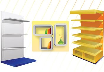 3D Shelves Vectors - vector gratuit #150665
