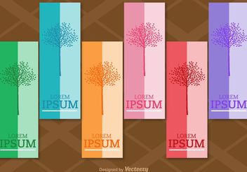 Seasonal Tree Vertical Labels - Free vector #150715