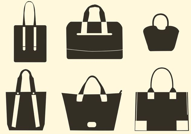 Vector Hand Bag Silhouettes - Free vector #150755