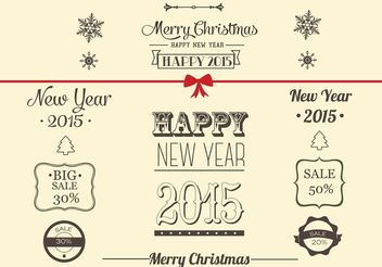 Free Vector Christmas Decoration Collection - vector gratuit #150775