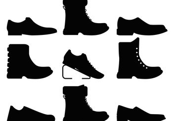 Mens Shoes Vectors - Free vector #150785