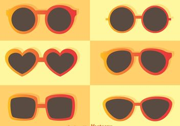 Trendy Sunglasses Vectors - бесплатный vector #150825