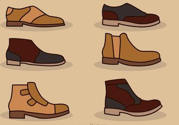 Man Shoes Vector Icons - бесплатный vector #150845
