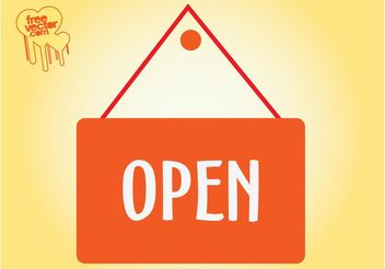 Open Sign - vector gratuit #150875