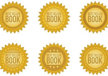 Best Seller Book Vector Badges - бесплатный vector #150925