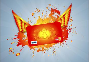Flying Credit Card - vector gratuit #150965
