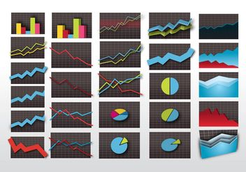 Stock Market Graphics - vector gratuit #151025