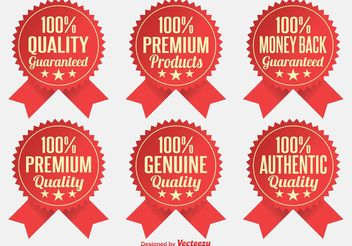 Premium Quality Badges - vector gratuit #151065