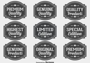 Premium Quality Label Set - vector gratuit #151085