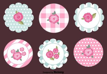 Shabby Chic Retro Tags - Free vector #151095