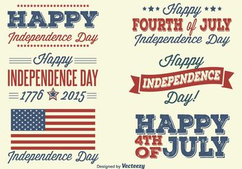 Independence Day Labels - vector #151135 gratis