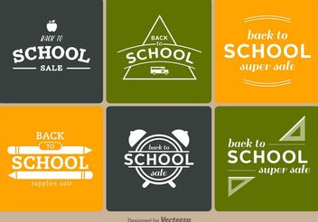 Back to School Badges - vector #151145 gratis