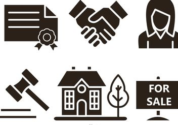 Real Estate Vector Icons - vector gratuit #151155