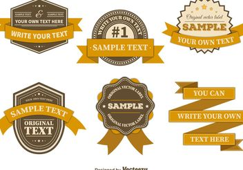 Retro Badges Templates - vector gratuit #151175