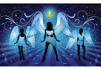 Sexy Angels - vector #151225 gratis