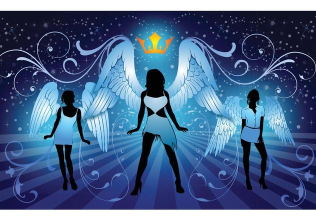 Sexy Angels - Free vector #151225