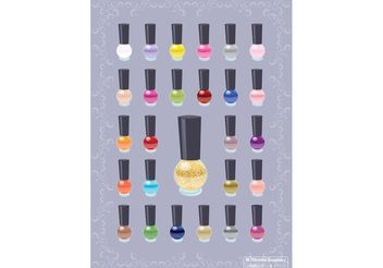 Nail Polish Color Vectors - vector gratuit #151235