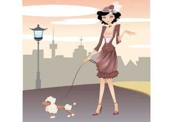 City Girl - vector gratuit #151285