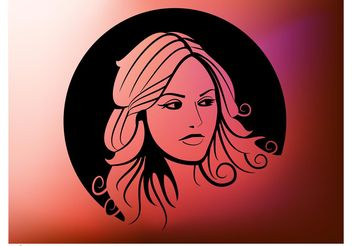 Girl Circle Design - vector #151355 gratis