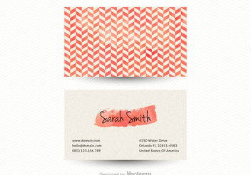 Free Vector Chevron Business Card Template - Free vector #151445