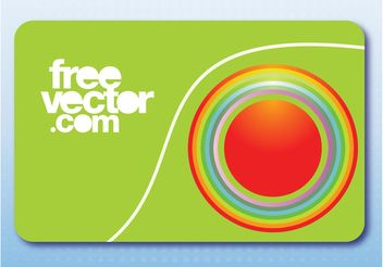 Business Card With Circles - vector gratuit #151455