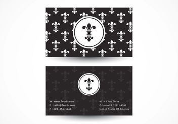 Free Fleur De Lis Vector Business Card - vector #151515 gratis